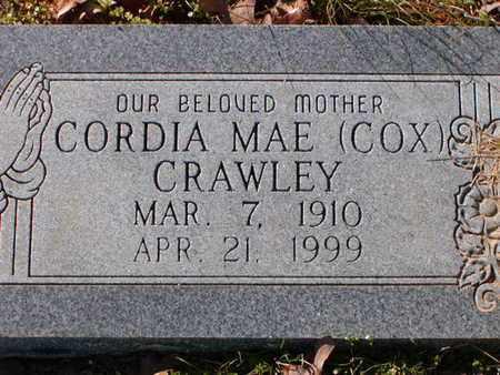 COX CRAWLEY, CORDIA MAE - Bowie County, Texas | CORDIA MAE COX CRAWLEY - Texas Gravestone Photos