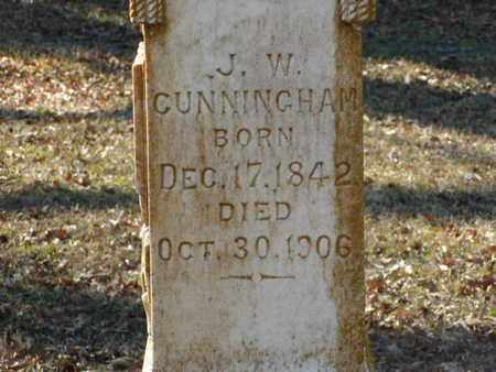 CUNNINGHAM, J W (CLOSEUP) - Bowie County, Texas | J W (CLOSEUP) CUNNINGHAM - Texas Gravestone Photos