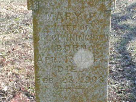 CUNNINGHAM, MARY F (CLOSEUP) - Bowie County, Texas | MARY F (CLOSEUP) CUNNINGHAM - Texas Gravestone Photos
