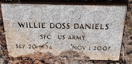 DANIELS (VETERAN), WILLIE DOSS - Bowie County, Texas | WILLIE DOSS DANIELS (VETERAN) - Texas Gravestone Photos