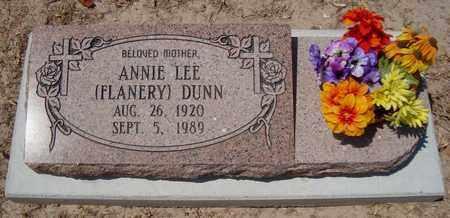 DUNN, ANNIE LEE - Bowie County, Texas | ANNIE LEE DUNN - Texas Gravestone Photos