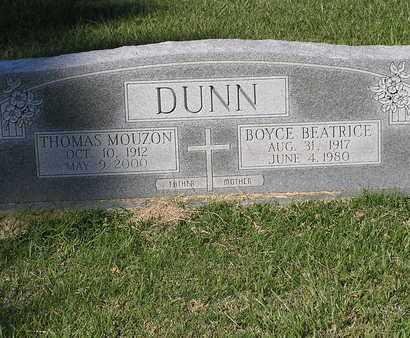DUNN, THOMAS MOUZON - Bowie County, Texas | THOMAS MOUZON DUNN - Texas Gravestone Photos