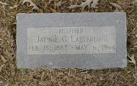 EASTERLING, JANNIE G - Bowie County, Texas | JANNIE G EASTERLING - Texas Gravestone Photos