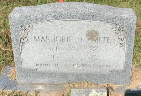 HUBBARD FORTE, MARJORIE H - Bowie County, Texas   MARJORIE H HUBBARD FORTE - Texas Gravestone Photos