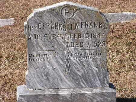 FRANKS, E, MRS - Bowie County, Texas | E, MRS FRANKS - Texas Gravestone Photos