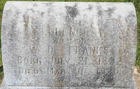 FRANKS, FLORENCE M - Bowie County, Texas | FLORENCE M FRANKS - Texas Gravestone Photos