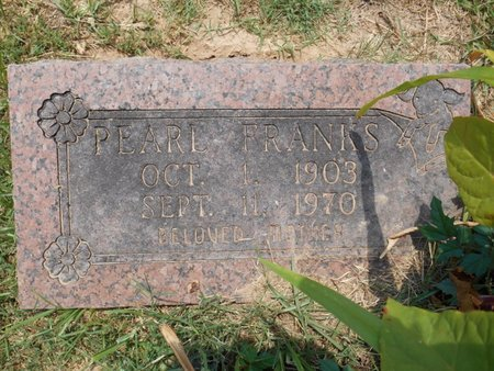 FRANKS, PEARL - Bowie County, Texas | PEARL FRANKS - Texas Gravestone Photos