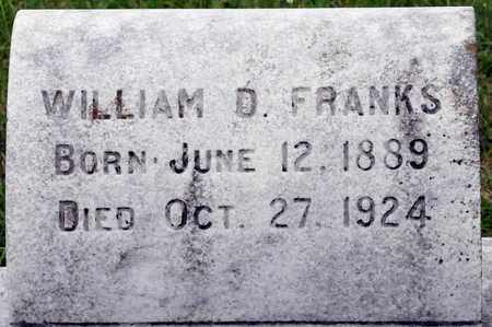 FRANKS, WILLIAM D - Bowie County, Texas | WILLIAM D FRANKS - Texas Gravestone Photos