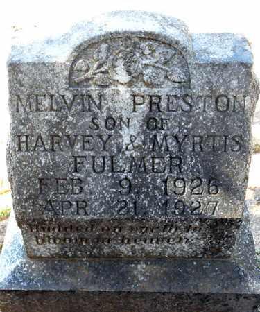 FULMER, MELVIN PRESTON - Bowie County, Texas | MELVIN PRESTON FULMER - Texas Gravestone Photos