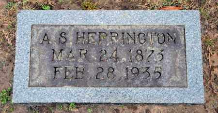 HERRINGTON, A S - Bowie County, Texas | A S HERRINGTON - Texas Gravestone Photos