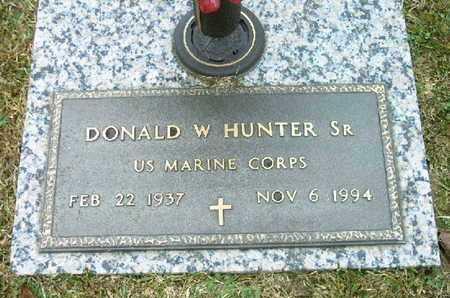 HUNTER, SR (VETERAN), DONALD W - Bowie County, Texas | DONALD W HUNTER, SR (VETERAN) - Texas Gravestone Photos