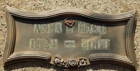 HURD, ANNA B (CLOSEUP) - Bowie County, Texas | ANNA B (CLOSEUP) HURD - Texas Gravestone Photos