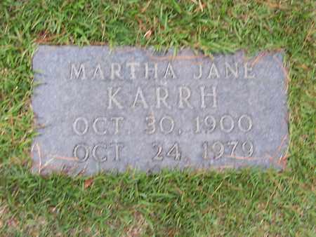 KARRH, MARTHA JANE - Bowie County, Texas | MARTHA JANE KARRH - Texas Gravestone Photos