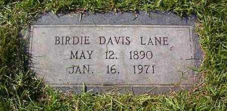 LANE, BIRDIE DAVIS - Bowie County, Texas | BIRDIE DAVIS LANE - Texas Gravestone Photos