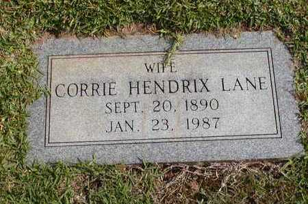 LANE, CORRIE - Bowie County, Texas | CORRIE LANE - Texas Gravestone Photos