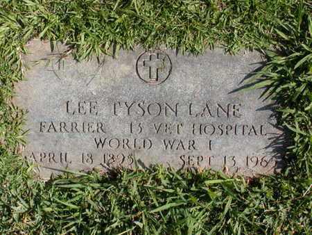 LANE (VETERAN WWI), LEE TYSON - Bowie County, Texas   LEE TYSON LANE (VETERAN WWI) - Texas Gravestone Photos
