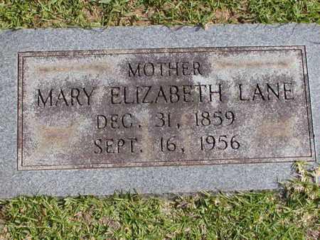 LANE, MARY ELIZABETH - Bowie County, Texas | MARY ELIZABETH LANE - Texas Gravestone Photos