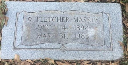 MASSEY, W FLETCHER  - Bowie County, Texas | W FLETCHER  MASSEY - Texas Gravestone Photos