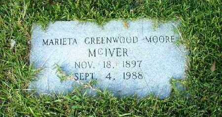 MOORE, MARIETA - Bowie County, Texas   MARIETA MOORE - Texas Gravestone Photos
