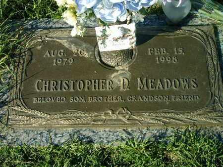 MEADOWS, CHRISTOPHER D - Bowie County, Texas | CHRISTOPHER D MEADOWS - Texas Gravestone Photos