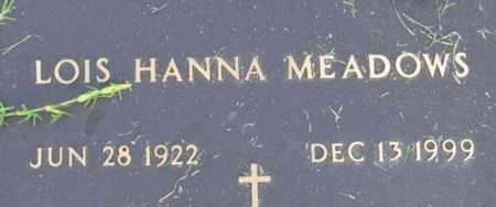 MEADOWS, LOIS HANNA - Bowie County, Texas | LOIS HANNA MEADOWS - Texas Gravestone Photos