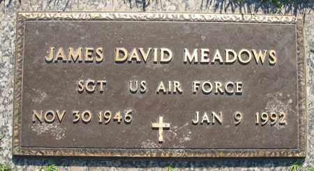 MEADOWS (VETERAN), JAMES DAVID - Bowie County, Texas | JAMES DAVID MEADOWS (VETERAN) - Texas Gravestone Photos