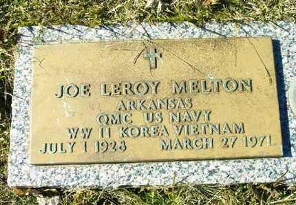 MELTON (VETERAN 3WARS), JOE LEROY - Bowie County, Texas | JOE LEROY MELTON (VETERAN 3WARS) - Texas Gravestone Photos