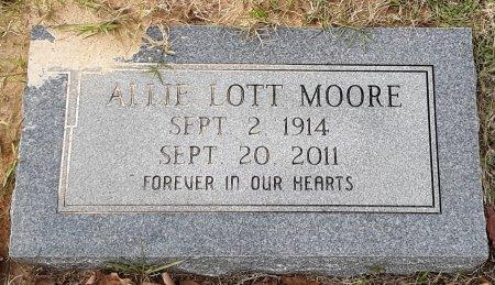 MOORE, ALLIE - Bowie County, Texas | ALLIE MOORE - Texas Gravestone Photos