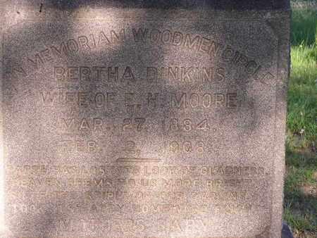 MOORE, BERTHA  (CLOSEUP) - Bowie County, Texas | BERTHA  (CLOSEUP) MOORE - Texas Gravestone Photos