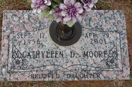 MOORE, CATHYLEEN D - Bowie County, Texas | CATHYLEEN D MOORE - Texas Gravestone Photos