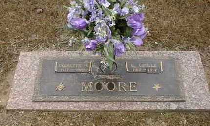 MOORE, EVERETTE H - Bowie County, Texas | EVERETTE H MOORE - Texas Gravestone Photos