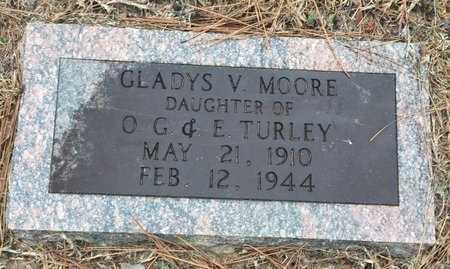 MOORE, GLADYS V. - Bowie County, Texas | GLADYS V. MOORE - Texas Gravestone Photos