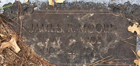 MOORE, JAMES R. - Bowie County, Texas | JAMES R. MOORE - Texas Gravestone Photos