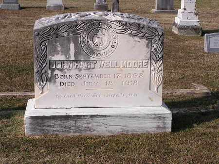 MOORE, JOHN HARTWELL - Bowie County, Texas | JOHN HARTWELL MOORE - Texas Gravestone Photos