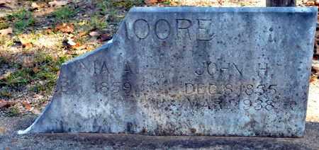 MOORE, JOHN H - Bowie County, Texas | JOHN H MOORE - Texas Gravestone Photos