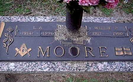 MOORE, L A - Bowie County, Texas | L A MOORE - Texas Gravestone Photos