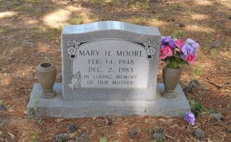 MOORE, MARY H - Bowie County, Texas   MARY H MOORE - Texas Gravestone Photos