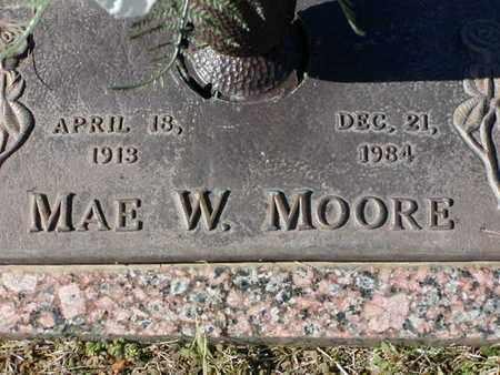 MOORE, MAE W - Bowie County, Texas | MAE W MOORE - Texas Gravestone Photos
