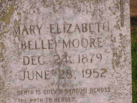 MOORE, MARY ELIZABETH (BELLE) - Bowie County, Texas | MARY ELIZABETH (BELLE) MOORE - Texas Gravestone Photos