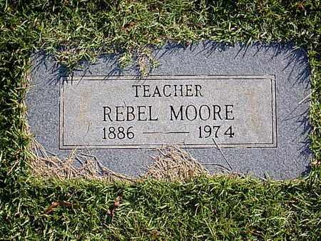 MOORE, REBEL - Bowie County, Texas | REBEL MOORE - Texas Gravestone Photos