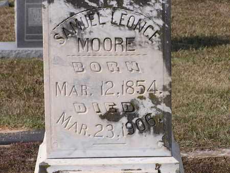 MOORE, SAMUEL LEONCE (CLOSEUP) - Bowie County, Texas | SAMUEL LEONCE (CLOSEUP) MOORE - Texas Gravestone Photos