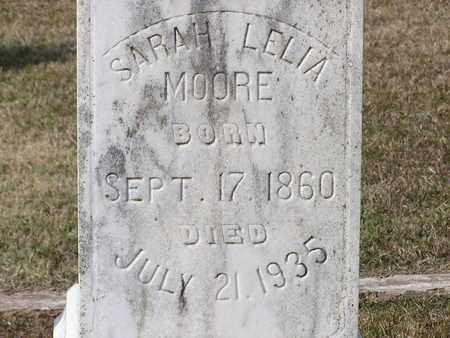 MOORE, SARAH LELIA (CLOSEUP) - Bowie County, Texas | SARAH LELIA (CLOSEUP) MOORE - Texas Gravestone Photos