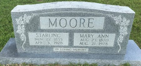 MOORE, STARLING - Bowie County, Texas | STARLING MOORE - Texas Gravestone Photos