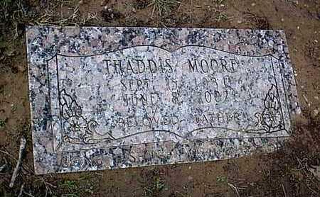 MOORE, THADDIS - Bowie County, Texas   THADDIS MOORE - Texas Gravestone Photos
