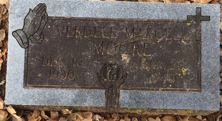 MOORE, VERDELL MARCELL - Bowie County, Texas   VERDELL MARCELL MOORE - Texas Gravestone Photos