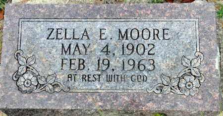 MOORE, ZELLA E - Bowie County, Texas | ZELLA E MOORE - Texas Gravestone Photos