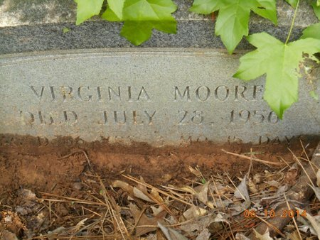MOORE, VIRGINIA - Bowie County, Texas   VIRGINIA MOORE - Texas Gravestone Photos
