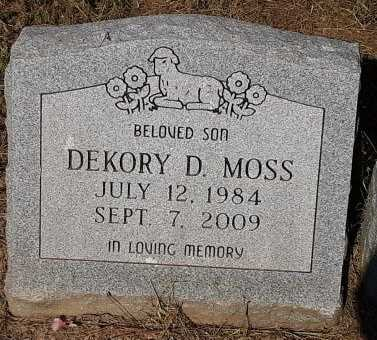 MOSS, DEKORY DEWAYNE - Bowie County, Texas | DEKORY DEWAYNE MOSS - Texas Gravestone Photos