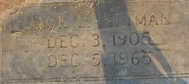 PITTMAN, JACK L (CLOSEUP) - Bowie County, Texas | JACK L (CLOSEUP) PITTMAN - Texas Gravestone Photos