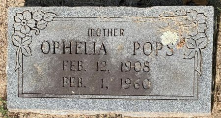 POPS, OPHELIA - Bowie County, Texas | OPHELIA POPS - Texas Gravestone Photos